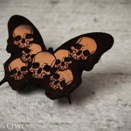 Schmetterhead Haarspange natur