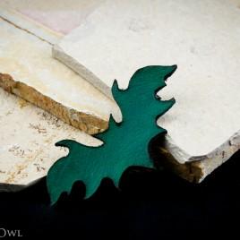 Fledermaus Haarspange grün