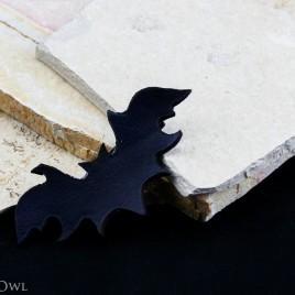 Haarspange Fledermaus schwarz