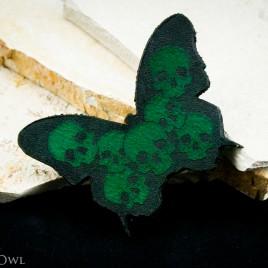 Schmetterhead Haarspange grün