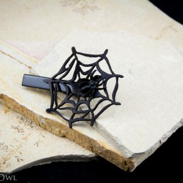 Spiderweb Haarspange schwarz