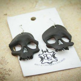 Skullohrring einzeln Ohrhaken Ohrring Schädel schwarz