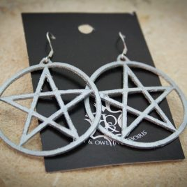 Pentagrammohrring Ohrhaken Ohrring Magie Hexe Symbolik silber