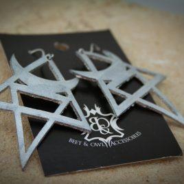Mondohrring Ohrhaken Ohrring Magie Hexe Symbolik silber