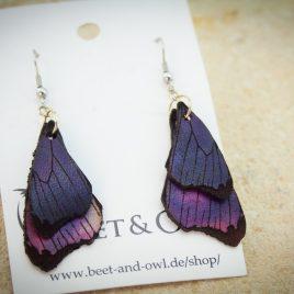 Ohrring Schmetterlingsflügel violett lila