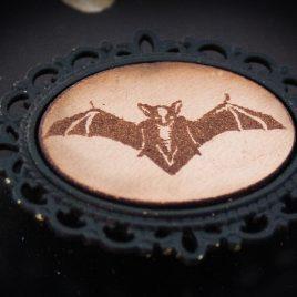Brosche Fledermaus Flughund Bat Anstecknadel