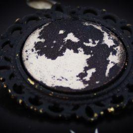 Brosche Vollmond Fullmoon Anstecknadel Mond