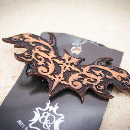 Haarspange Fledermaus Haarclip Ornament braun rechts