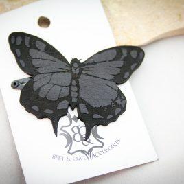 Haarspange schwarzer Schmetterling Falter Variante 3 links