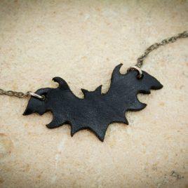 Halskette Kette kleine Fledermaus schwarz