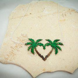 Halskette Kette Collier Palmenherz Palme Summerlove