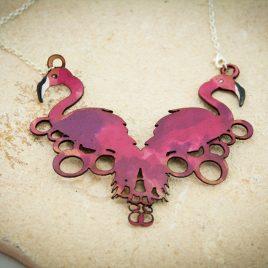 Halskette Kette Collier Flamingo Flamingos pink