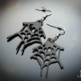 Spinnennetzohrring Ohrhaken Ohrring Spinne Spiderweb schwarz