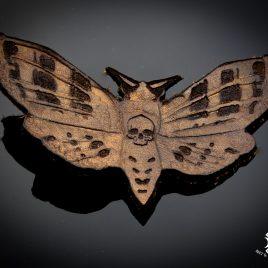 Haarspange Haarclip Motte Totenkopffalter Falter Skull Schädel braun