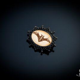 Brosche Fledermaus Flughund Bat Anstecknadel Nachtschwärmer Blutsauger Vampir