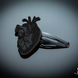 Haarspange Haarclip anatomisches Herz Heart schwarz Anatomie
