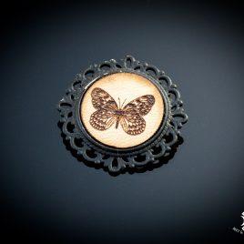Brosche Schmetterling Butterfly Baumnymphe Anstecknadel