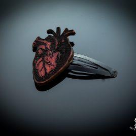 Haarspange Haarclip anatomisches Herz Heart rot Anatomie Blut Bloody Heart