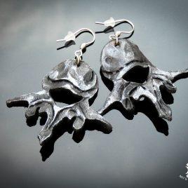handgefertigte Ohrringe Echtleder Wirbelkörper Wirbel Anatomie