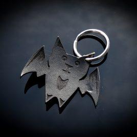 Schlüsselanhänger Fledermaus Carly Nachtschwärmer Bat schwarz Echtleder