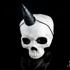 Hörner Horns Einhorn Unicorn Faun Fantasy Leder schwarz silber 3 Varianten