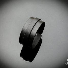 Armband Echtleder Streifen Strips Herrenarmband Echtleder schwarz elegant