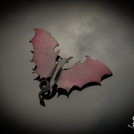 Haarspange Haarclip Drachen Dragon Wings Fantasy Drache Flügel Mystik schwarz rot Echtleder