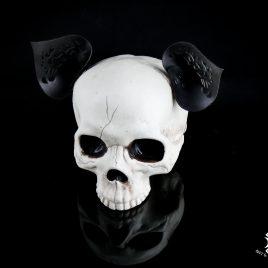 Ohren Öhrchen Clip Ear Hairclip Katzenohren schwarz mit Ornament Lasercut