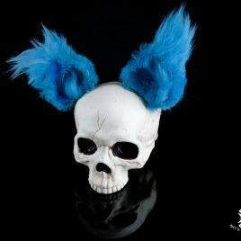 Ohren Öhrchen Clip Ear Hairclip Teddyohren Bärchen Öhrchen Katze blau Fell