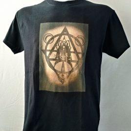 Herrenshirt schwarz Lavendeldruck Mystic Witch Hexenzirkel
