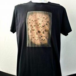 Herrenshirt schwarz Lavendeldruck Totenköpfe Skullmania