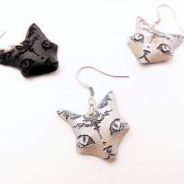 Katzenohrring Ohrhaken Ohrring Sphinx Bastet Katze Cat