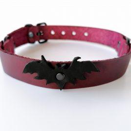Halsband Choker Fledermaus verschiedene Farben