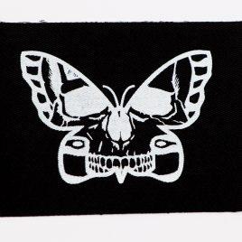 Patch Aufnäher Totenkopf Schmetterling