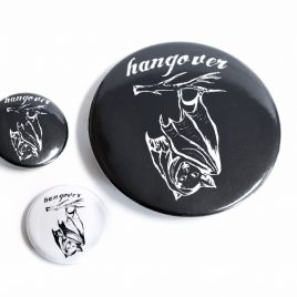 Button Pin Fledermaus Hangover 25mm oder 59mm
