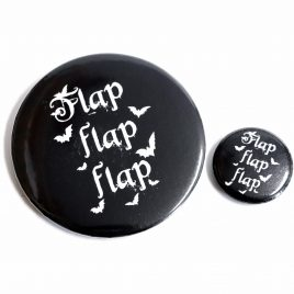 Fledermaus Button Pin Flap Flap Flap Flügelschlag 25mm oder 59mm
