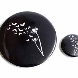 Button Pin Fledermaus Pusteblume 25mm oder 59mm