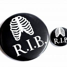 Button Pin Rippen Torso R.I.P. R.I.B. 25mm oder 59mm