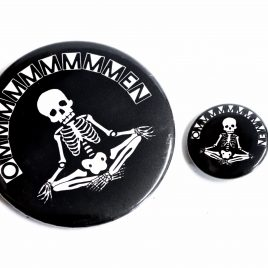 "Skelett Button Pin ""Omen"" Meditation 25mm oder 59mm"