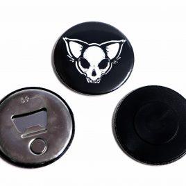 Flaschenöffner Magnet Katzenkopf Catskull 59mm