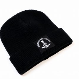 gothic alternative Beanie Mütze Skelett Omen Meditation schwarz
