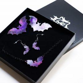 Schmuck Geschenkset Galaxy Fledermaus – verschiedene Farben