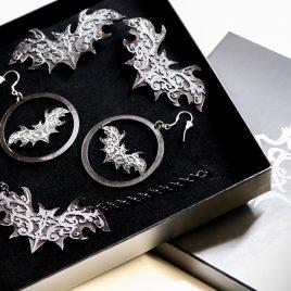 Schmuck Geschenkset Ornament Fledermaus