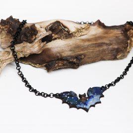 Halskette Kette Galaxy Fledermaus