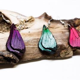 Schmetterlingsflügel Ohrringe Ohrhaken Hängeohrringe