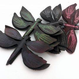 Haarspange Libelle Skeletthände Insekt Falter Haarclip verschiedene Farben