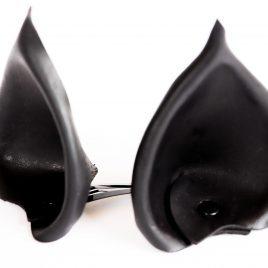 Ohren Öhrchen Clip Ear Hairclip Fledermausohren Fledermaus Bat Batears schwarz