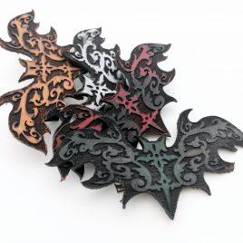 Haarspange Haarclip Ornament Fledermaus Bat verschiedene Farben zur Auswahl