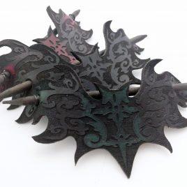Haarspange Haarstab mit oder ohne  Ornament Fledermaus Bat verschiedene Farben