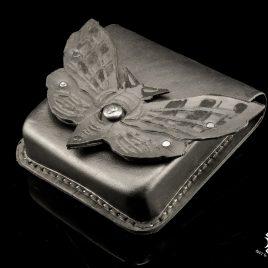 Gürteltasche Pouch Belt Bag Motte Moth Totenkopf Falter schwarz  Echteder